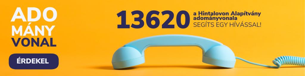 Segíts egy hívással! Hívd adományvonalunkat!