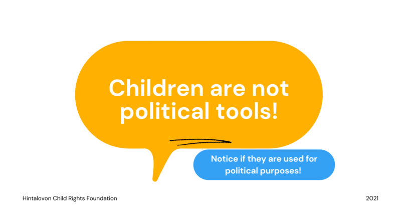 How can you notice if a political campaign is exploiting children? – Child-centered guide for political campaigns